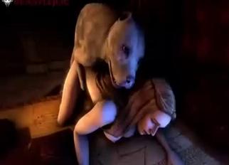 3D pitbull fucks a passionate zoofil