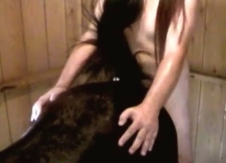 Awesome black animal fucked from behind